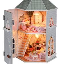 free shipping handmade diy cheap wooden dollhouse furniture