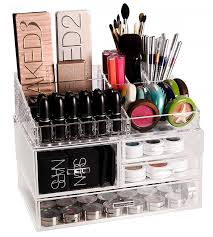 plastic makeup organizer put bathroom: this makeup organization and storage tip will really put a smile on your face because not only will it be easy for you to find what you are looking for