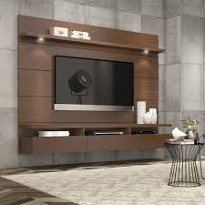 tv design furniture. cabrini 22 floating wall theater entertainment center in nut brown tv design furniture