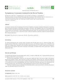 (PDF) Nyctaginaceae: A taxonomic treatment for the Flora of Namibia