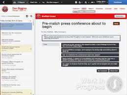 football manager 2014 new features fm scout press conference question asking about ambitions for next season after promotion