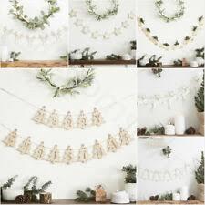 <b>Christmas Garland</b> Wooden in <b>Christmas</b> Wall & Hanging Decorations