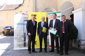 Thomas Heuberger, Raiffeisen-Vorstandsdirektor Johann Jauk, Ernst Kopp und Wilfried Leitgeb (v.l.) rührten die Werbetrommel für den Exportmarkt Polen. - 2234101_web