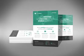 a professional and flat design corporate flyer psd template flat design flyer o