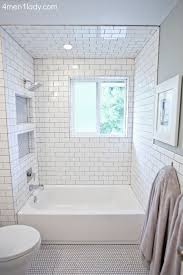 bathroom white tiles: subway tile bathroom this bathroom has a lot of great storage love all the