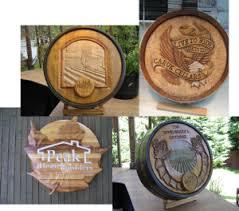 wine barrel carvings barrel wine cellar designs