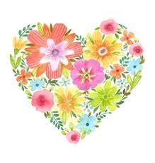 Watercolor <b>Flower Heart</b> Vector Images (over 1,000)