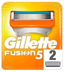 Купить Сменные <b>кассеты</b> для бритья <b>Gillette Fusion</b>, 2 шт с ...