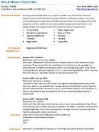 electrician cv example   learnist org