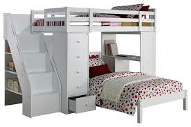 megan twin size loft bed desk chest all in 1 workstation and lower bed bunk bed desk