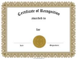 certificate of recognition template how to customize a certificate of recognition template