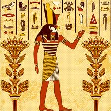 <b>Vintage</b> Poster With Egyptian <b>God</b> On The <b>Grunge</b> Background With ...