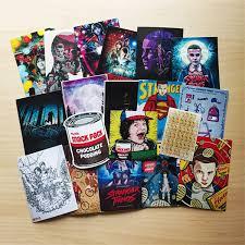 <b>18pcs lot American Movie Stranger</b> Things sticker skateboard decal ...