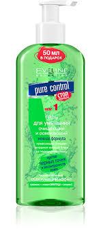 EVELINE <b>PURE</b> CONTROL <b>Гель для умывания</b> очищающий и ...