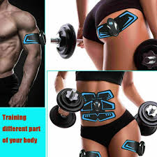 <b>Electric</b> Muscle Toner <b>EMS</b> Machine <b>Wireless</b> Toning Belt 6 Six Pack ...