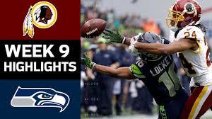 Redskins vs. Seahawks   NFL Week 9 Game Highlights - YouTube
