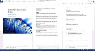 disaster recovery plan template ms word excel disaster recovery template red theme screenshots