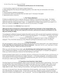 example essay thesis