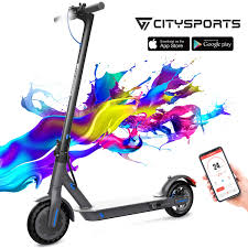 CITYSPORTS Electric Scooter 8.5 inches, <b>Foldable</b> Scooter with ...