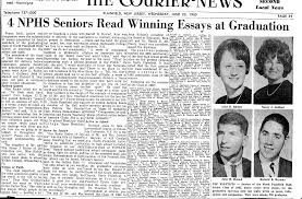 nphs class of acirc graduation day  graduation essay winners courier news 23 1965