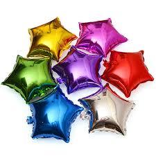 Wholesale-<b>50pcs lot 5inch</b> Star Shape Helium Foil Balloon Birthday ...