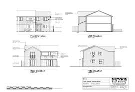 Example House plans   Bedroom end of terrace built to let    New build house External elevations