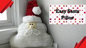 Crochet <b>Santa Claus</b> Pattern - Easy <b>Pillow</b> - YouTube