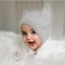 Шапочка <b>Kitty</b> Cap из ангоры для малыша спицами - Модное ...
