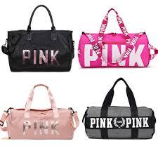 <b>2019</b> Large Capacity Travel Gym Tote Travel <b>Bag</b> Pink Casual ...