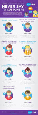 the world s catalog of ideas 8 things your customer service team should never say to customers infographic business