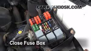 replace a fuse chevrolet astro chevrolet astro 6 replace cover secure the cover and test component