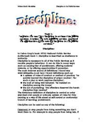 essay on discipline  doitmyfreeipme explain the need for discipline in at least two public services page zoom in