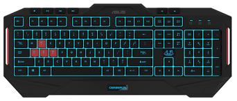 <b>Клавиатура ASUS Cerberus</b> MKII Keyboard Black USB — купить по ...