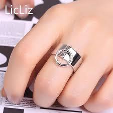 <b>LicLiz Simple</b> Pure <b>925</b> Sterling <b>Silver</b> Adjustable Rings for Women ...