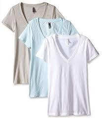 China Women′s <b>Deep V</b>-Neck Cotton Blend Short Sleeve T-Shirt in ...