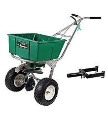 amazon com lesco 101186 high wheel walk behind fertilizer lesco 101186 high wheel walk behind fertilizer spreader w lesco spreader caddy