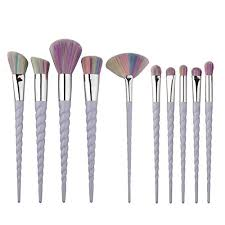 Makupp <b>10pcs Unicorn Makeup</b> Brush Set Pr- Buy Online in ...