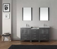 double oak free standing bathroom vanity unit