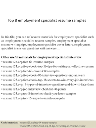 top  employment specialist resume samplestop  employment specialist resume samples in this file  you can ref resume materials for
