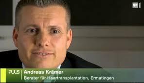 Medienauftritt von Haartransplantations-Experte Andreas Krämer bei Puls Gesundheitsmagazin im Schweizer Fernsehen am 17. Januar 2011. - puls112