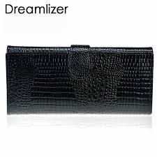 <b>Dreamlizer</b> Women Soft <b>Leather</b> Crocodile Wallet Women Bifold ...