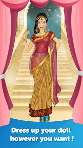 free mobogenie indian bride dress up fun doll makeover game screenshot 2