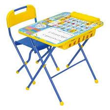 Комплект <b>Nika</b> (<b>Ника</b>) <b>Умничка</b> 2П стол, стул Первоклашка осень ...
