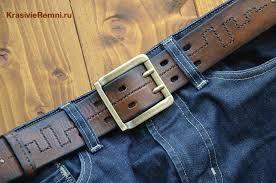 Мужской <b>широкий кожаный ремень</b> - рыжий | Ремень, Кожаные ...