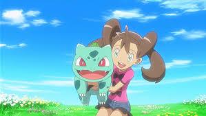 Resultado de imagem para pokémon shauna e bulbasaur