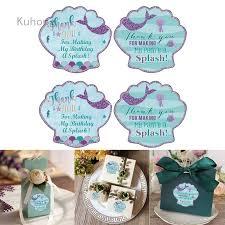 Kuhong <b>40 pc</b> Cute Mermaids <b>Thank</b> You Sticky Note 1st 2nd 3rd ...