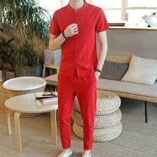 <b>Loldeal</b> Men Stripe Set Irregular Striped Shirt+Shorts Set Male ...