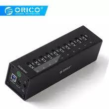 <b>ORICO</b> Super Speed ABS <b>7 Ports</b> USB 3.0 HUB with 5V2A Power ...