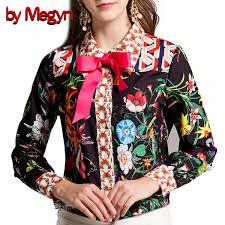2018 <b>By Megyn Women Shirts</b> 2017 Runway Fashion Long Sleeve ...