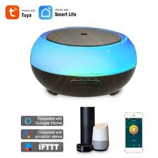 Smart <b>Wifi Wireless LED</b> Night Lamp 400ml Humidifier Essential Oil ...
